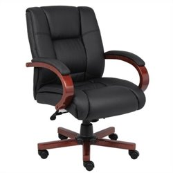 Boss Office Mid Back Executive Office Chair in Cherry