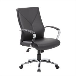 Boss Office LeatherPlus Executive Office Chair in Black
