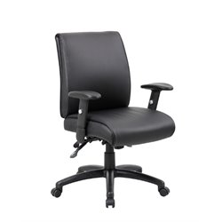 Boss Office Multi-Function Mid Back Executive Office Chair in Black