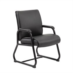 Boss Office Upholstered Guest Office Chair in Black