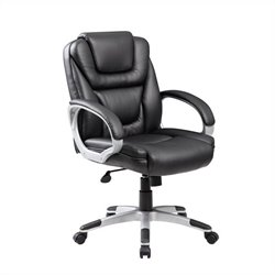 Boss Office Mid Back Upholstered Executive Office Chair in Black
