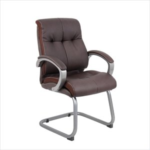 Boss Office Double Plush Executive Guest Chair in Bomber Brown