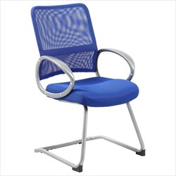 Boss Office Mesh Back Guest Chair in Blue