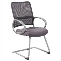 Boss Office Mesh Back Guest Chair in Charcoal Gray