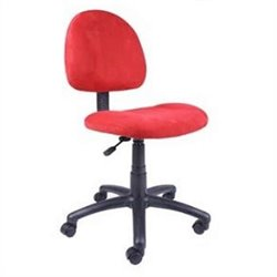 Boss Office Products Fabric Deluxe Posture Office Chair in Red