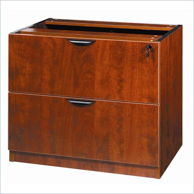 Boss Office Products 2 Drawer Lateral Wood Filing Cabinet in Cherry