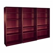 Offices to Go 4 Shelf Wall Bookcase in American Mahogany Finish