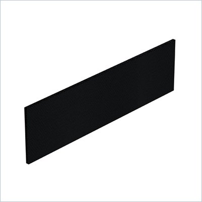Offices To Go 64&quot; x 17.25&quot; Tack Board in Black Fabric