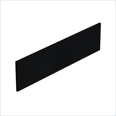 Offices To Go 68.25&quot; x 17.25&quot; Tack Board in Black Fabric