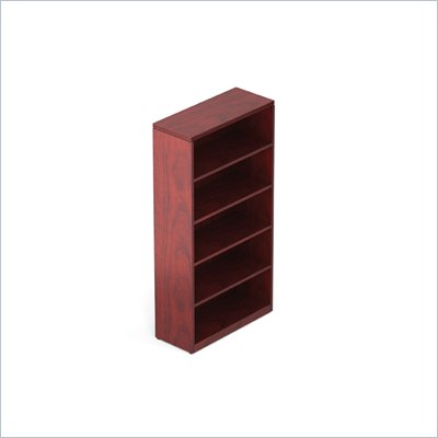 "Offices To Go 70"" 5-Shelf Bookcase in Cordovan"