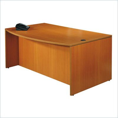 "Offices to Go 71"" Bow Front Wood Credenza Desk"