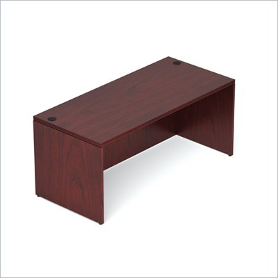 Offices To Go 66&quot; Rectangular Desk Shell in Cordovan