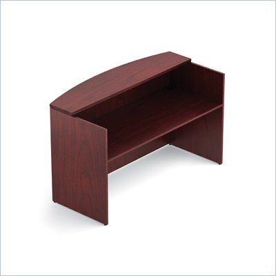 Offices To Go 72&quot; Reception Desk Shell in Cordovan