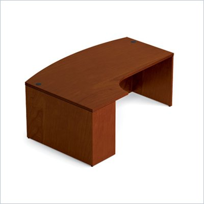 Offices To Go 48&quot; Bow Front Desk with Left Extension in Toffee