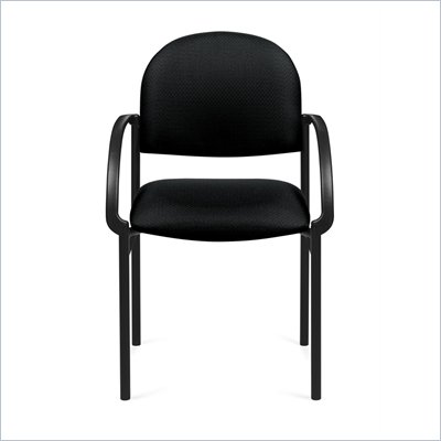 Offices To Go Occassional Chair with Arms in Black