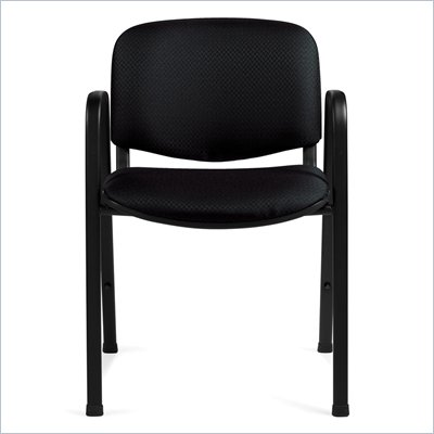 Offices To Go Stackable Guest Chair in Black