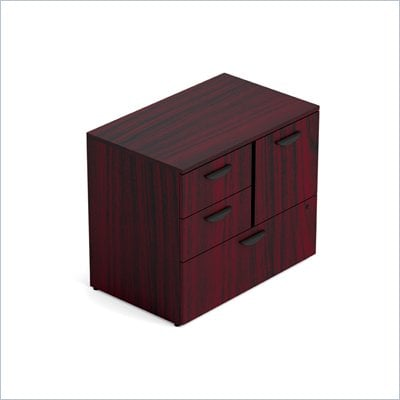 Offices To Go Mixed 298 Unit with Lock in American Mahogany