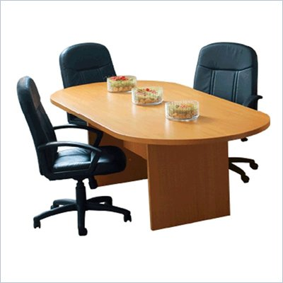 "Offices to Go 5'11"" Racetrack Conference Table with Slab Base"