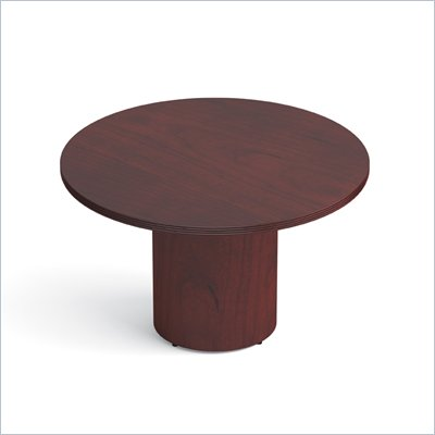 Offices To Go 48&quot; Drum Base Round Table in Cordovan