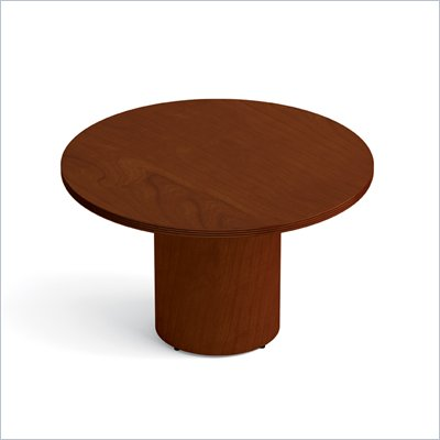 Offices To Go 48&quot; Drum Base Round Table in Toffee