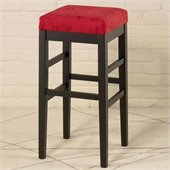 Armen Living Sonata 26 High Square Micro Fiber Backless Counter Stool