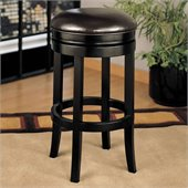 Armen Living 26 High Brown Backless Swivel Counter Stool