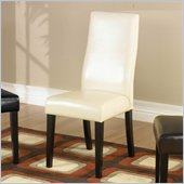Armen Living Bycast Leather Casual Dining Side Chair (Set of 2)