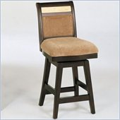 Armen Living 26 High Marble Inlay and Chenille Swivel Counter Stool
