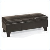 Armen Living Blanket Storage Bench Ottoman