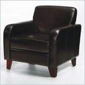 Armen Living Brown Leather Club Chair
