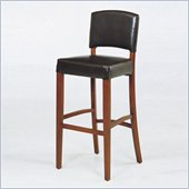 Armen Living Sonora 30 High Stationary Leather Bar Stool
