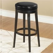 Armen Living Black 26 High Round Backless Swivel Counter Stool