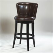 Armen Living Lisbon 30 High Brown Bycast Leather Swivel Bar Stool