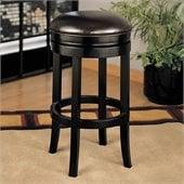 Armen Living 30 High Brown Backless Swivel Bar Stool
