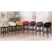 Armen Living Igloo 26 High Microfiber Swivel Counter Stool