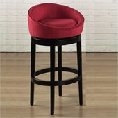 Armen Living Igloo 30 High Microfiber Swivel Bar Stool