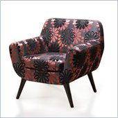 Armen Living Jetson Club Chair in Purple Floral Cover