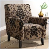Armen Living Fiesta Club Chair in Brown Medallion and Green