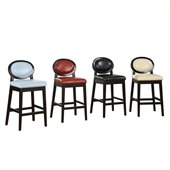 Armen Living Martini 26H Stationary Leather Bar Stool