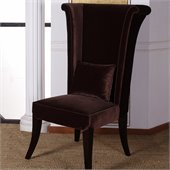Armen Living Mad Hatter Dining Chair in Deep Brown Velvet
