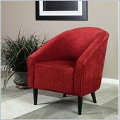 Armen Living Orion Club Chair in Red Chenille