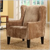 Armen Living Madera Club Chair in Brown
