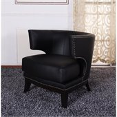 Armen Living Eclipse Vinyl Club Chair in Black