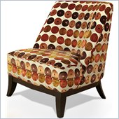 Armen Living Jester Club Chair in Brilliant Orange and Red
