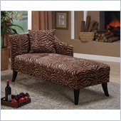 Armen Living Patterson Tiger Print Chenille Chaise Lounge