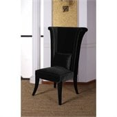 Armen Living Mad Hatter Dining Chair in Black
