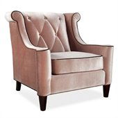 Armen Living Barrister Velvet Chair in Caramel