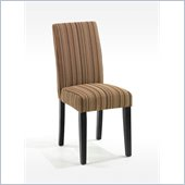Armen Living Fabric Side Chair in Stripe Pattern