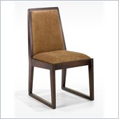 Armen Living Obliq Fabric Side Chair in Tobacco (Set of 2)