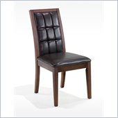 Armen Living Verona Side Chair in Brown